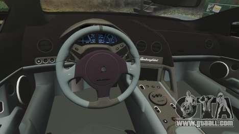 Lamborghini Reventon Roadster 2009 for GTA 4 side view