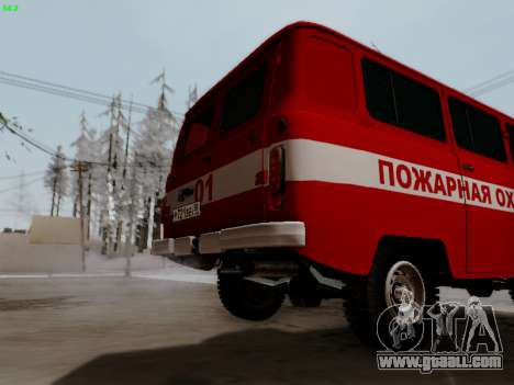 UAZ 452 Fire Staff Penza Russia for GTA San Andreas back view