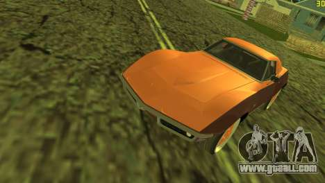 Chevrolet Corvette C3 Tuning for GTA Vice City side view