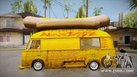 Hot Dog Van Custom for GTA San Andreas left view