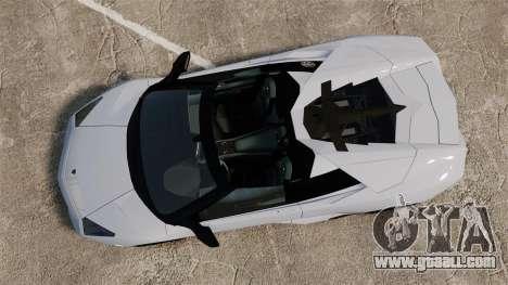 Lamborghini Reventon Roadster 2009 for GTA 4 right view