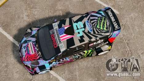 Ford Fiesta Gymkhana 6 Ken Block [Hoonigan] 2013 for GTA 4 right view