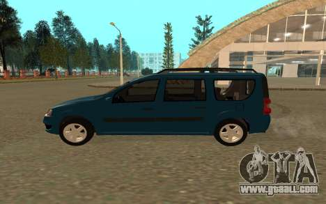 Lada Largus for GTA San Andreas back left view