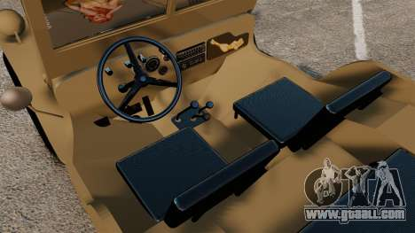 Willys MB for GTA 4 inner view