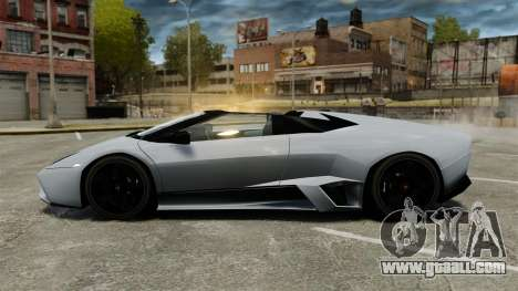 Lamborghini Reventon Roadster 2009 for GTA 4 left view