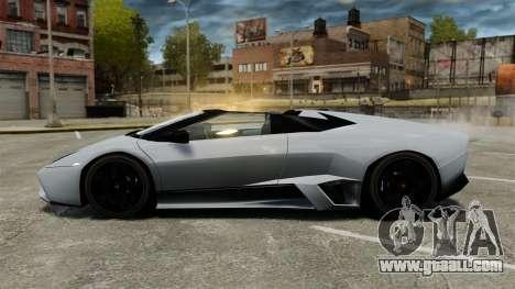 Lamborghini Reventon Roadster 2009 for GTA 4 left view