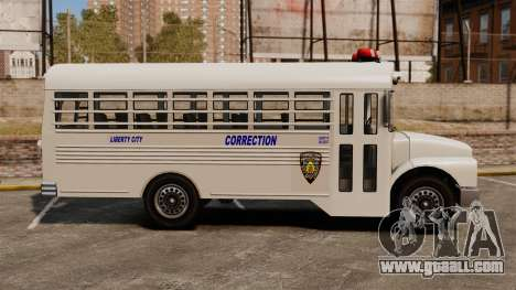The prison bus Liberty City for GTA 4 left view