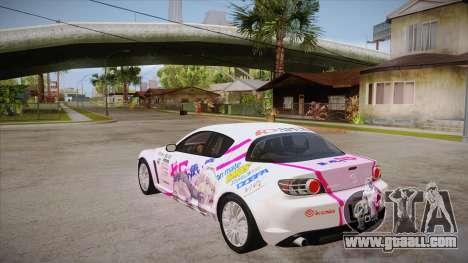 Mazda RX8 Tunnable for GTA San Andreas back left view