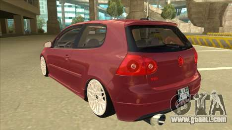 Volkswagen Golf V for GTA San Andreas back view