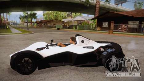 BAC Mono 2011 for GTA San Andreas left view