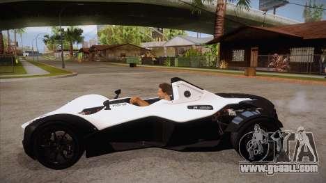 BAC Mono 2011 for GTA San Andreas left view