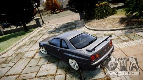 Nissan Skyline GTR-34 v1.0 for GTA 4 left view