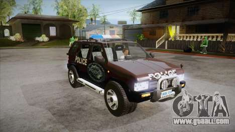 Nissan Terrano RB26DETT Police for GTA San Andreas back view