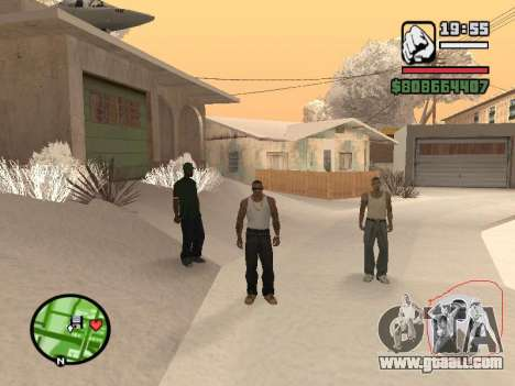 Switching between characters as in GTA V for GTA San Andreas forth screenshot