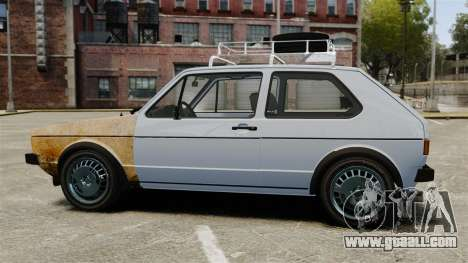 Volkswagen Golf MK1 GTI Rat Style for GTA 4 left view