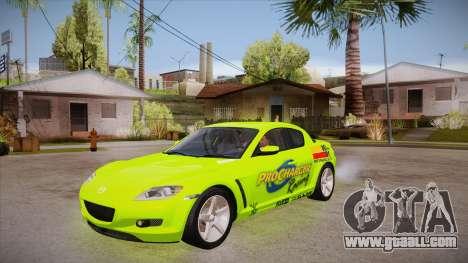 Mazda RX8 Tunnable for GTA San Andreas