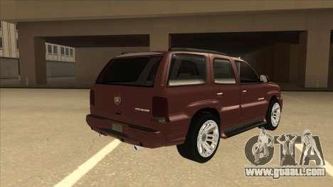 Cadillac Escalade 2002 for GTA San Andreas right view