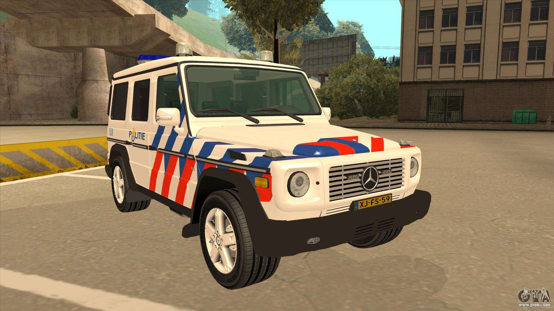european emergency mercedes benz g 2008 for gta san andreas