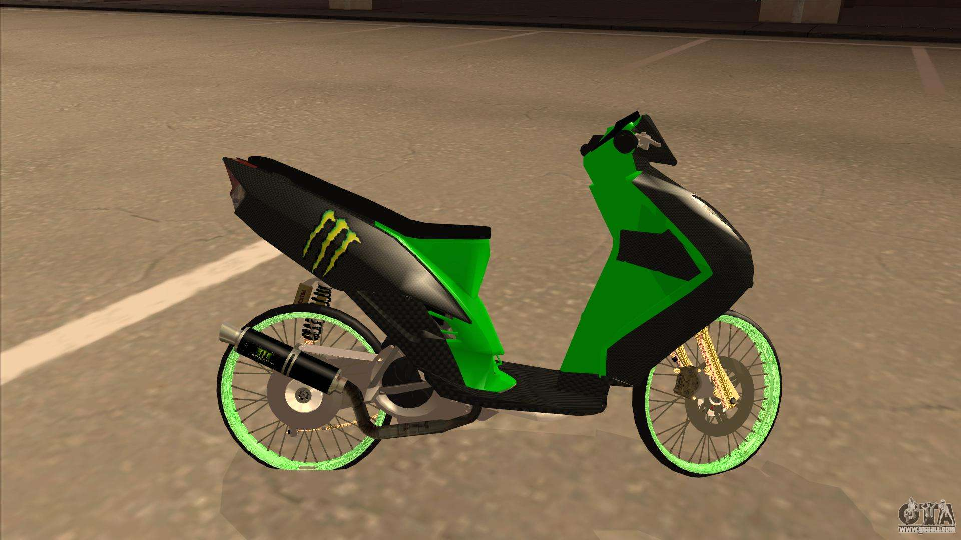 Yamaha Mio Soul 2 Monster Energy For Gta San Andreas