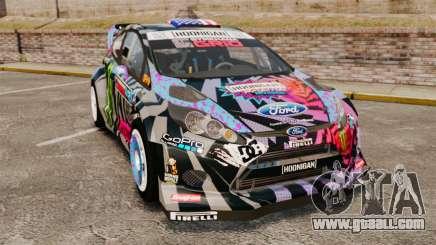 Ford Fiesta Gymkhana 6 Ken Block [Hoonigan] 2013 for GTA 4