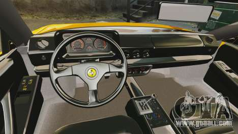 Ferrari Testarossa 1986 for GTA 4 inner view
