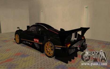 Pagani Zonda R SPS for GTA San Andreas right view