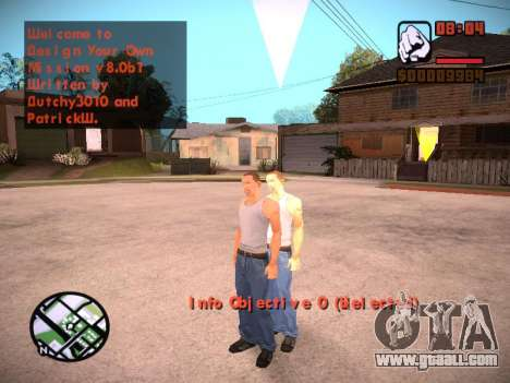 New menu and a new font for GTA San Andreas eighth screenshot