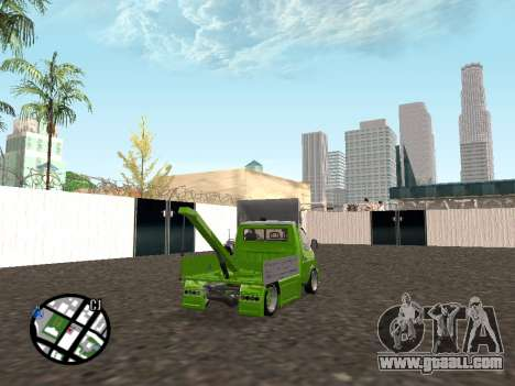 Gazelle Tow Truck for GTA San Andreas back left view