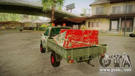 UAZ 2360 Repair water SA for GTA San Andreas back left view