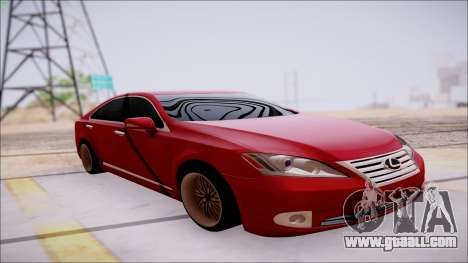 Lexus ES350 2010 for GTA San Andreas inner view
