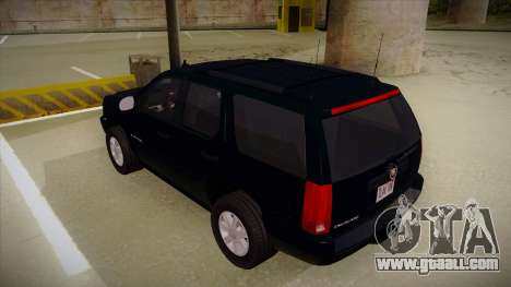 Cadillac Escalade 2011 Unmarked FBI for GTA San Andreas back view