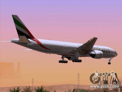 Boeing 777-21HLR Emirates for GTA San Andreas engine