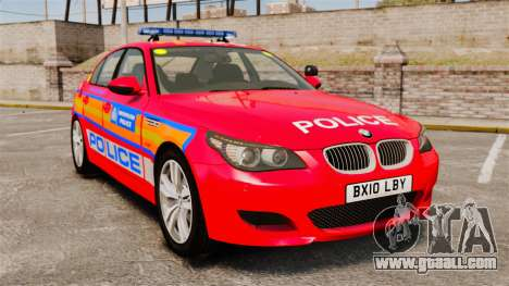 BMW M5 E60 Metropolitan Police 2010 ARV [ELS] for GTA 4