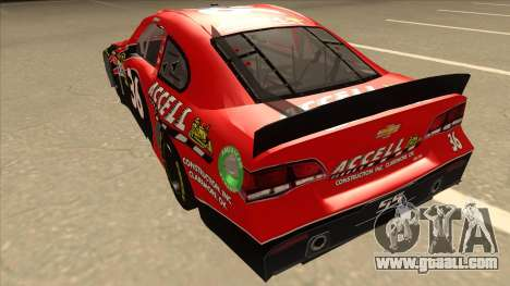 Chevrolet SS NASCAR No. 36 Accell for GTA San Andreas back view