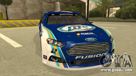 Ford Fusion NASCAR No. 2 Miller Lite for GTA San Andreas left view