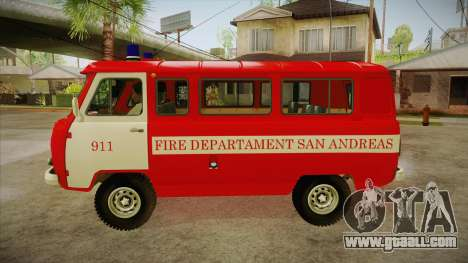 UAZ 452 Firefighter headquarters SA for GTA San Andreas left view