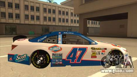 Toyota Camry NASCAR No. 47 Clorox for GTA San Andreas back left view
