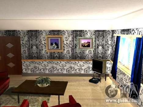 New interior 2-storeyed building CJ for GTA San Andreas third screenshot
