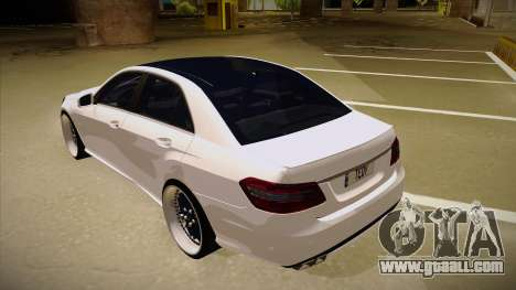 Mercedes-Benz E63 6.3 AMG Tedy for GTA San Andreas back view