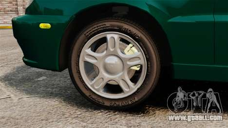 Daewoo Lanos 1997 Cabriolet Concept v2 for GTA 4 back view