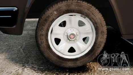 Gaz-3110 Pickup for GTA 4 back view