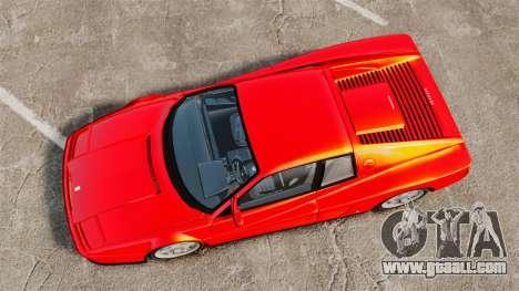 Ferrari Testarossa 1986 for GTA 4 right view