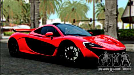 McLaren P1 2014 for GTA San Andreas back view