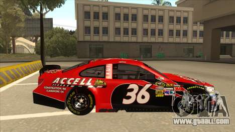 Chevrolet SS NASCAR No. 36 Accell for GTA San Andreas back left view