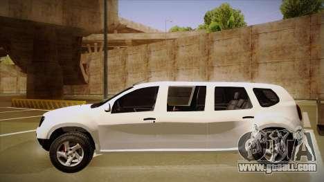 Dacia Duster Limuzina for GTA San Andreas back left view