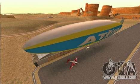Zepellin GTA V for GTA San Andreas