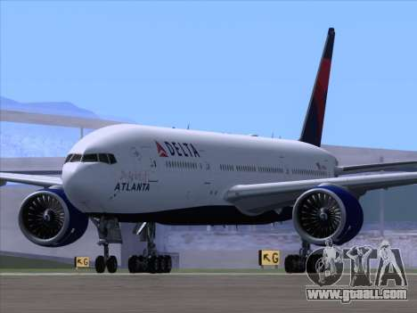Boeing 777-200ER Delta Air Lines for GTA San Andreas right view