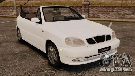Daewoo Lanos 1997 Cabriolet Concept for GTA 4