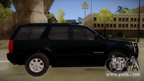 Cadillac Escalade 2011 FBI for GTA San Andreas back left view