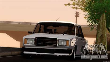 VAZ 2107 audio extrem for GTA San Andreas right view